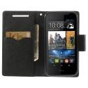 HTC Desire 310 Portfel Etui – Fancy Czarne