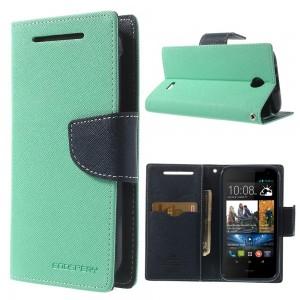HTC Desire 310 - etui na telefon i dokumenty - Fancy cyjan