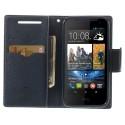HTC Desire 310 Portfel Etui – Fancy Cyjan