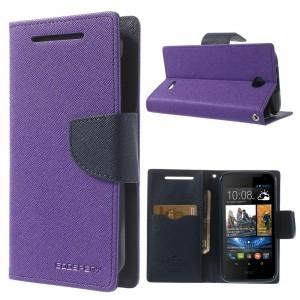 HTC Desire 310 - etui na telefon i dokumenty - Fancy purpurowe