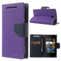 HTC Desire 310 Portfel Etui – Fancy Purpurowy