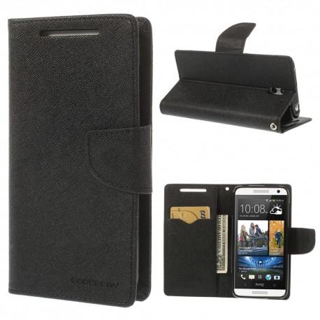 HTC Desire 610 - etui na telefon i dokumenty - Fancy czarne