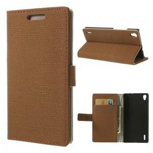 Huawei Ascend P7 - etui na telefon i dokumenty - Materiał brązowe