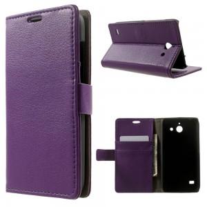 Huawei Ascend Y550 - etui na telefon i dokumenty - Litchi purpurowe