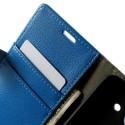 Huawei Ascend Y550 Portfel Etui – Litchi Niebieski
