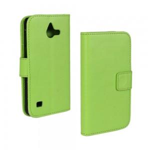 Huawei Ascend Y550 - etui na telefon i dokumenty - zielone