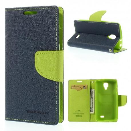 LG F70 - etui na telefon i dokumenty - Fancy Goospery niebieskie