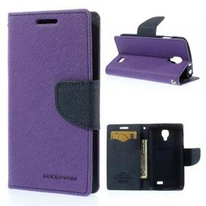 LG F70 - etui na telefon i dokumenty - Fancy Goospery purpurowe