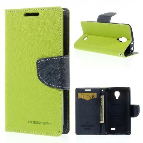 LG F70 - etui na telefon i dokumenty - Fancy Goospery zielone