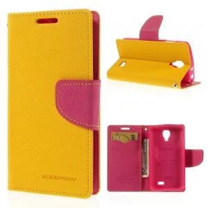 LG F70 - etui na telefon i dokumenty - Fancy Goospery żółte