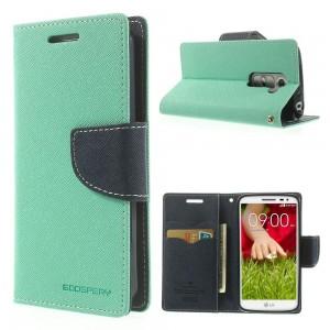 LG G2 Mini - etui na telefon i dokumenty - Fancy Goospery cyjan