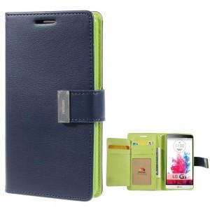 LG G3 - etui na telefon i dokumenty - Rich Diary niebieskie