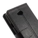 LG L65 Portfel Etui – PU Skóra Litchi Czarne