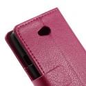 LG L65 Portfel Etui – PU Skóra Litchi Różowy