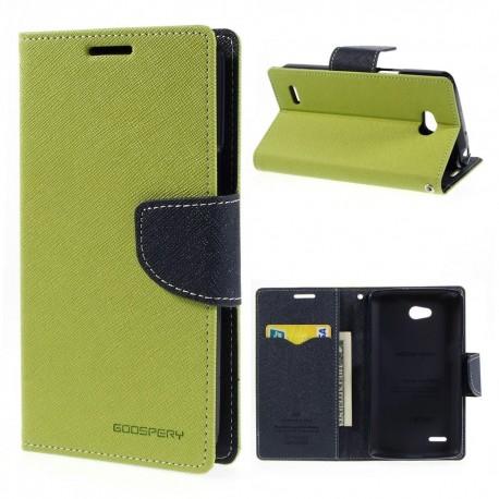 LG L80 - etui na telefon i dokumenty - Fancy Goospery zielone