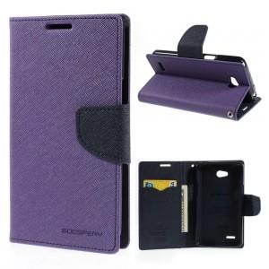 LG L80 - etui na telefon i dokumenty - Fancy Goospery purpurowy