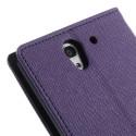 Sony Xperia C3 Goospery Portfel Etui – Fancy Purpurowy