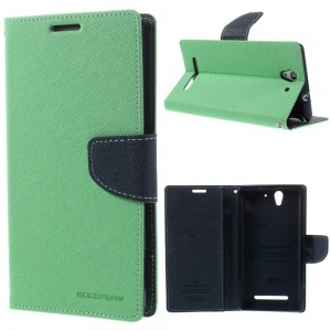 Sony Xperia C3 - etui na telefon i dokumenty - Fancy Goospery cyjan