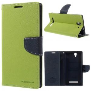 Sony Xperia C3 - etui na telefon i dokumenty - Fancy Goospery zielone
