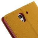Sony Xperia C3 Goospery Portfel Etui – Fancy żółty