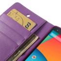 LG Nexus 5 Portfel Etui – Sonata Purpurowy