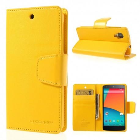 LG Nexus 5 - etui na telefon i dokumenty - Sonata żółte