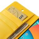 LG Nexus 5 Portfel Etui – Sonata żółty