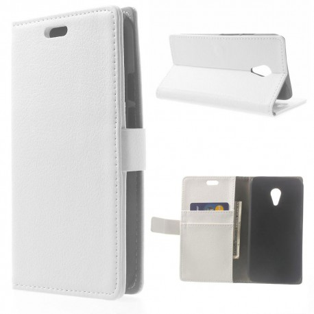 Motorola Moto G2 - etui na telefon i dokumenty - Litchi białe