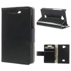 Nokia Asha 503 - etui na telefon i dokumenty - CH czarne