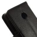 Nokia Lumia 530 Portfel Etui – Litchi Czarne
