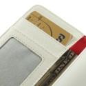 Nokia Lumia 530 Portfel Etui – Litchi Białe