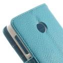 Nokia Lumia 530 Portfel Etui – Litchi Niebieski