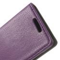 Nokia Lumia 630 Portfel Etui Litchi – Purpurowy