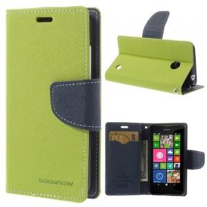 Nokia Lumia 630 / 635 - etui na telefon i dokumenty - Fancy zielone