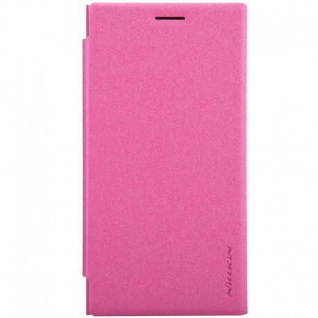Nokia Lumia 730 / 735 - etui na telefon - Nillkin Sparkle różowe