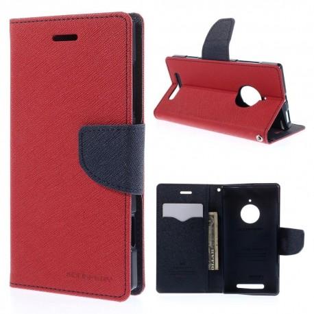 Nokia Lumia 830 - etui na telefon i dokumenty - Fancy czerwone