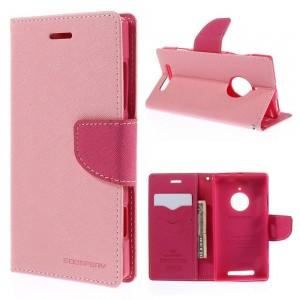Nokia Lumia 830 - etui na telefon i dokumenty - Fancy różowe