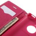 Nokia Lumia 830 Portfel Etui – Fancy Różowy