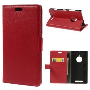 Nokia Lumia 830 - etui na telefon i dokumenty - Litchi czerwone
