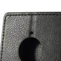 Nokia Lumia 830 Portfel Etui – Czarne Litchi