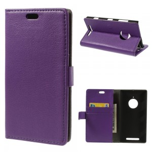 Nokia Lumia 830 - etui na telefon i dokumenty - Litchi purpurowe