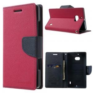 Nokia Lumia 930 - etui na telefon i dokumenty - Fancy ciemnoróżowe
