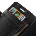 Nokia Lumia 930 Portfel Etui – Litchi Czarne