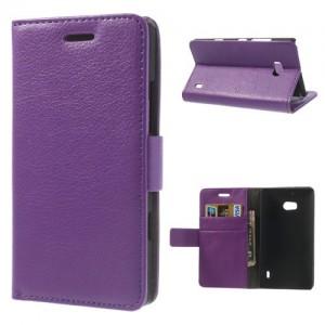 Nokia Lumia 930 - etui na telefon i dokumenty - Litchi purpurowe
