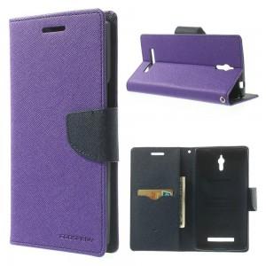 Oppo Find 7 - etui na telefon i dokumenty - Fancy Goospery purpurowe
