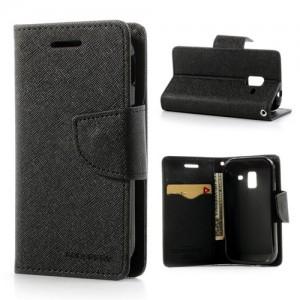 Samsung Galaxy Ace 2 - etui na telefon i dokumenty - Fancy czarne