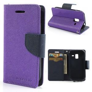 Samsung Galaxy Ace 2 - etui na telefon i dokumenty - Fancy purpurowe