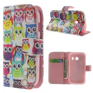 Samsung Galaxy Ace Style - etui na telefon i dokumenty - Sowy 2
