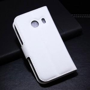 Samsung Galaxy Ace Style - etui na telefon i dokumenty - Litchi białe