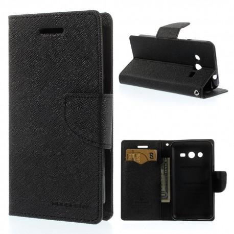 Samsung Galaxy Core 2 - etui na telefon i dokumenty - Fancy czarne